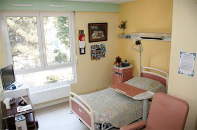Chambre du centre hospitalier d'Hesdin
